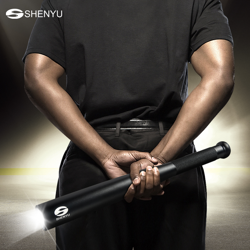 SHENYU Baseball Bat LED Flashlight 2000Lumens Super Bright Baton Torch for Emergency and Self Defense