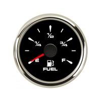 52mm 190 ohm Car Fuel Level Gauges Digital Boat Fuel Gauge Oil Tank Level Indicator fit Motorcycle Car Yacht 12V 24V