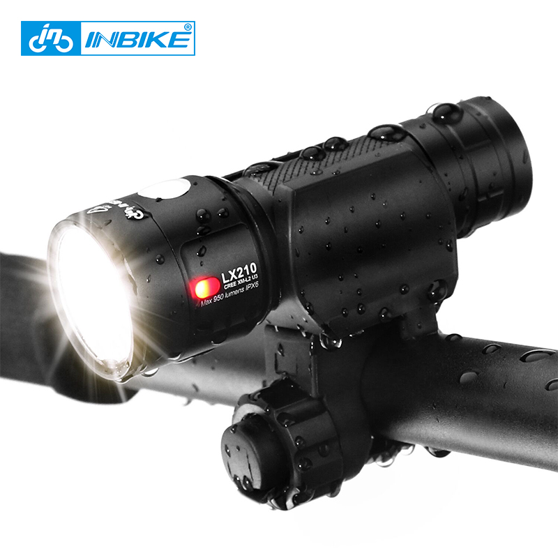 INBIKE Ultraleve Bicicleta Frente Luz 1000 Lumens Bicicleta Ultra-Brilhante Lanterna LED Lamp USB Recarregável Tocha 18650 Bateria