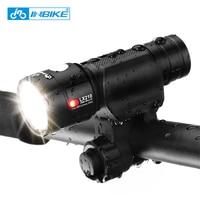 INBIKE Ultralight אופניים מול אופני אור אולטרה בהיר פנס LED לפיד 18650 סוללה נטענת USB מנורת פתיל XM-L2-U3