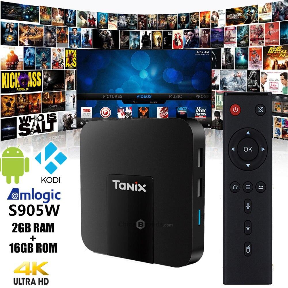 Original Tanix TX3 Mini TV Box 4 K HD S905W 2,4 GHz WiFi Android 7,1 2 GB RAM 16 GB ROM Set Top Box receptor de TV con Control remoto