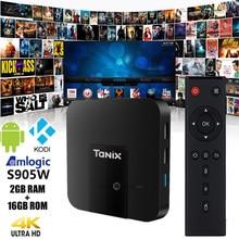 Ursprüngliche Tanix TX3 Mini TV Box 4 Karat HD S905W 2,4 GHz WiFi Android 7,1 2 GB RAM 16 GB ROM Set Top Box TV Empfänger Mit Fernbedienung