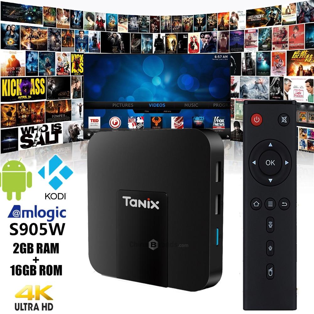 Originale Tanix TX3 Mini TV Box 4 k HD S905W 2.4 ghz WiFi Android 7.1 2 gb di RAM 16 gb ROM Set Top Box TV Ricevitori Con Telecomando di Controllo