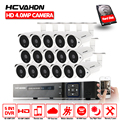 HCVAHDN HD Home CCTV System 16CH 5MP NVR 4MP AHD DVR HD CCTV 4.0mp AHD Camera Home Security System Max 6TB HDD Outdoor Kits