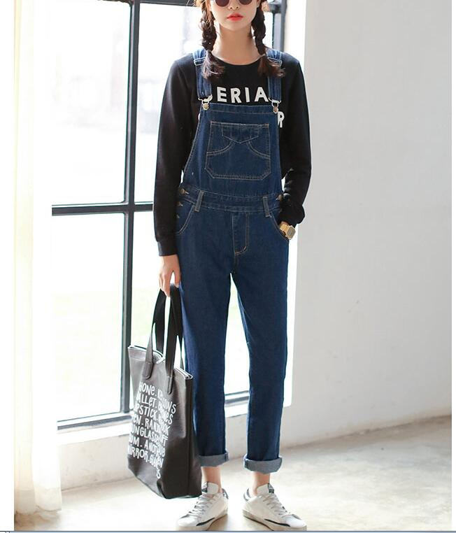 fccc1bfcc1a3 Jeans Jumpsuit Mori girl korean style Denim Jumpsuits Women s Overalls Pants  Ladies  Jeans Gallus Rompers Female Suspender-in Jumpsuits from Women s ...