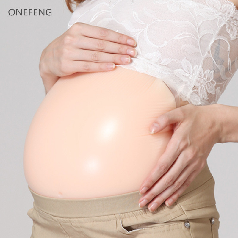 New Designed Women <font><b>Fake</b></font> Pregnant Belly 6~ 7 Month, <font><b>hot</b></font> <font><b>sale</b></font> <font><b>Silicone</b></font> <font><b>Fake</b></font> Belly for 2000g/piece