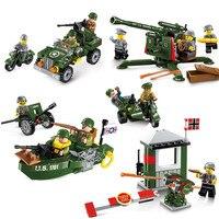Stad SWAT Serie Militaire Hoge Grond Luchtafweergeschut Bouwsteen Bricks Speelgoed Compatibel Lepin Kids Vakantie Geschenken XD89