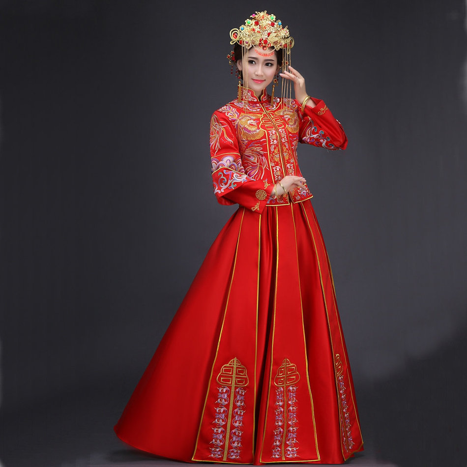Chinese Qipao Wedding Gold
