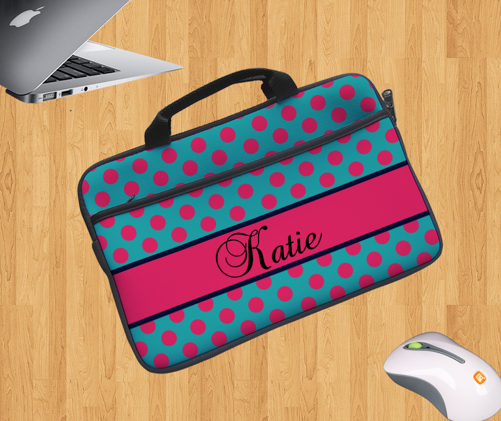 Easy carrying laptop case design your own laptop zipper bag covercustom bags with extra pocket handle