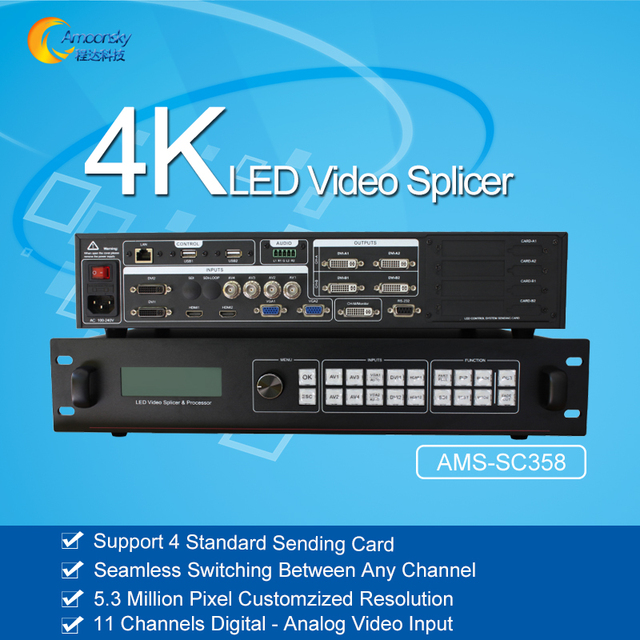 US $726 75 5% OFF AMS SC358 led display video processor 4k led wall  controller 4k video processor-in Screens from Consumer Electronics on