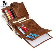 RFID Genuine Leather Men Wallets Coin Pocket Zipper Real Mens Cow Wallet with High Quality Male Purse cartera