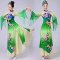 Женщины Китайский Народный Танец Костюм Женский Китайский Традиционный Танец Платье Китайский Yangko Танец Одежда Танец с Веером 89 Этап