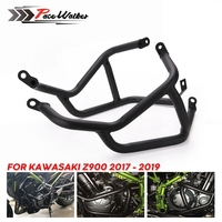 Black Motorcycle Engine Crash Bar Protetive Guard Protector Bumper Fall Protection For Kawasaki Z900 2017