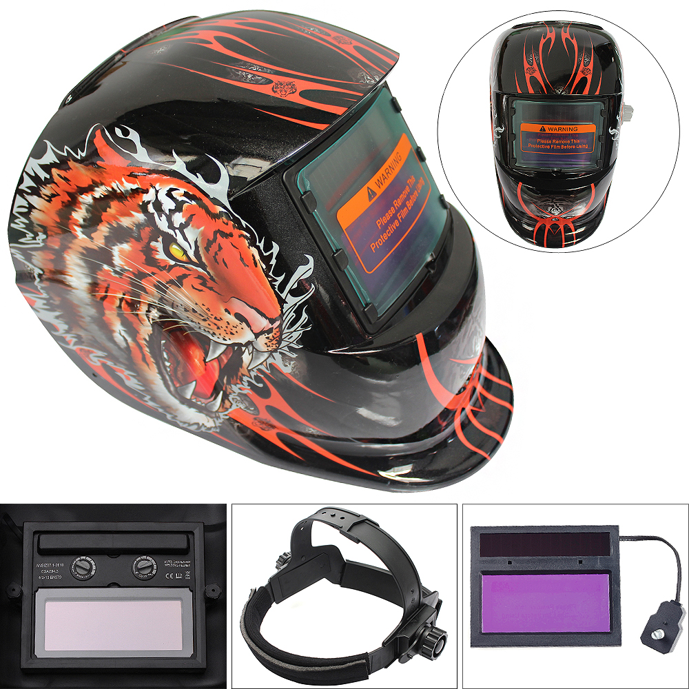 Sale The Tiger Adjust Solar Auto Darkening TIG MIG Grinding Welding Helmets / Face Mask / Electric Welding Mask / Weld Cap