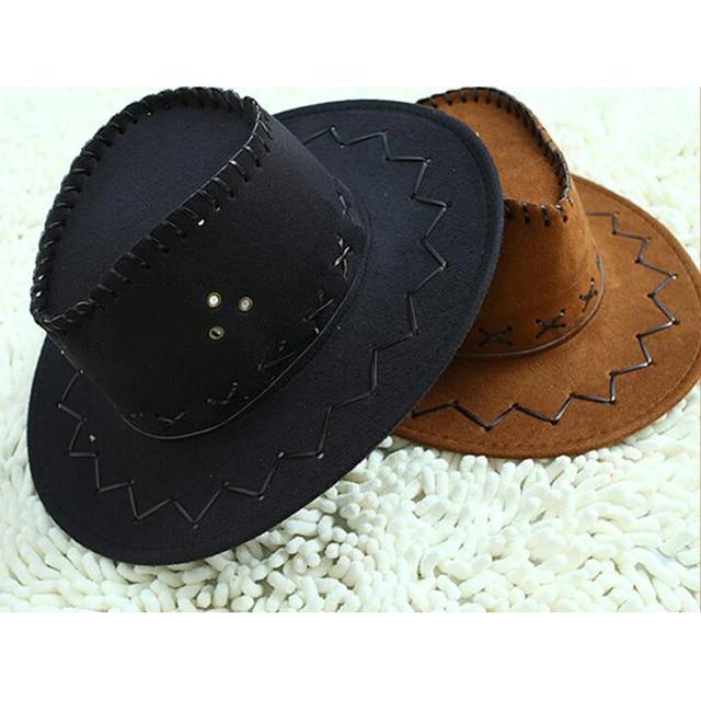 Unisex Bambini Cappello Da Cowboy Di Modo di Alta Qualità Giocattolo  Puntelli Cosplay Freddo Costume Operato 8e3f0bdca3dd