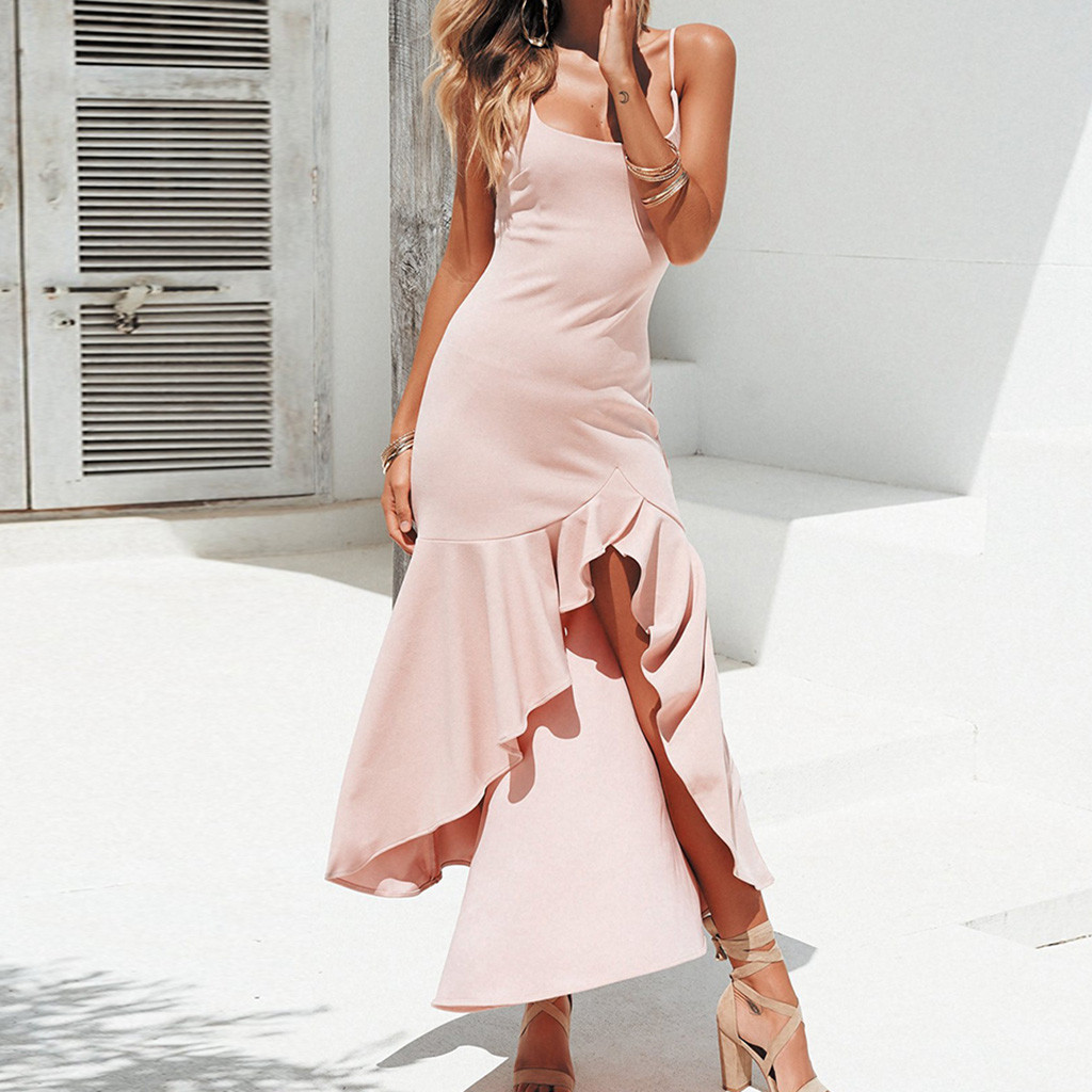 распространенные платья с воланами длинные фото последние годы