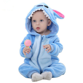 HaiCospl Flanela Kigurumi Pijama Bebê Recém-nascido Do Bebê Romper Animal Onesie Traje Macacão Com Capuz Inverno Primavera Terno