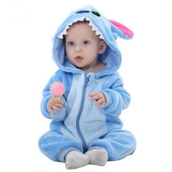 Haicospl flanela do bebê kigurumi pijamas recém-nascido infantil macacão animal macacão com capuz macacão inverno primavera terno