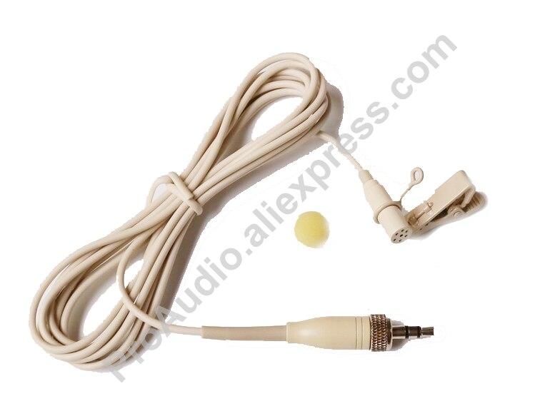 Beige ME2 Clip Revers Cravate Microphone Mic Pour Sennheiser EW G1 G2 G3 Sans Fil 1/8 Verrouillage Plug