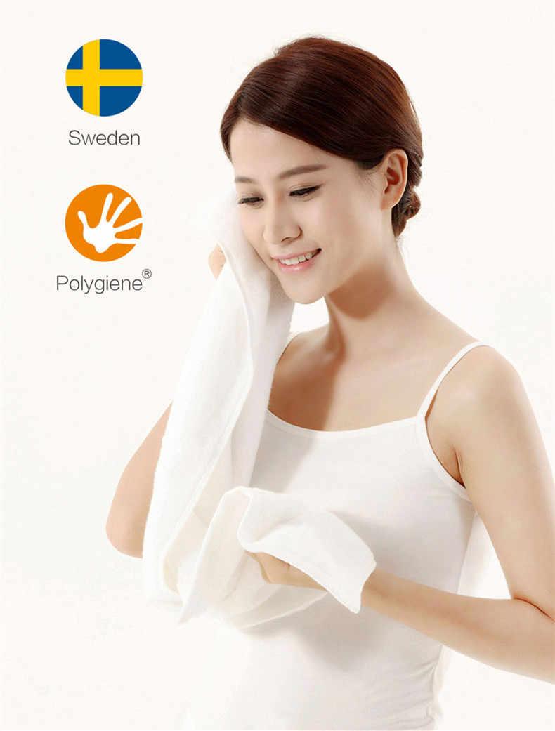 2018 Xiaomi ZSH Polyegiene Antibacterical منشفة شابة سلسلة 100% القطن 5 ألوان للغاية ماصة حمام الوجه اليد منشفة