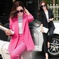 Pant ternos 2016 New Arrival moda feminina Blazers com Pants venda quente de outono casuais jogos femininos Formal OL Workwear Pant ternos