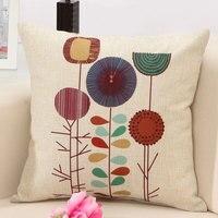 Cool Back Cushion Cover Cartoon Plant Design Car Seat Decorative Throw Pillowcase Sofa Home Decor