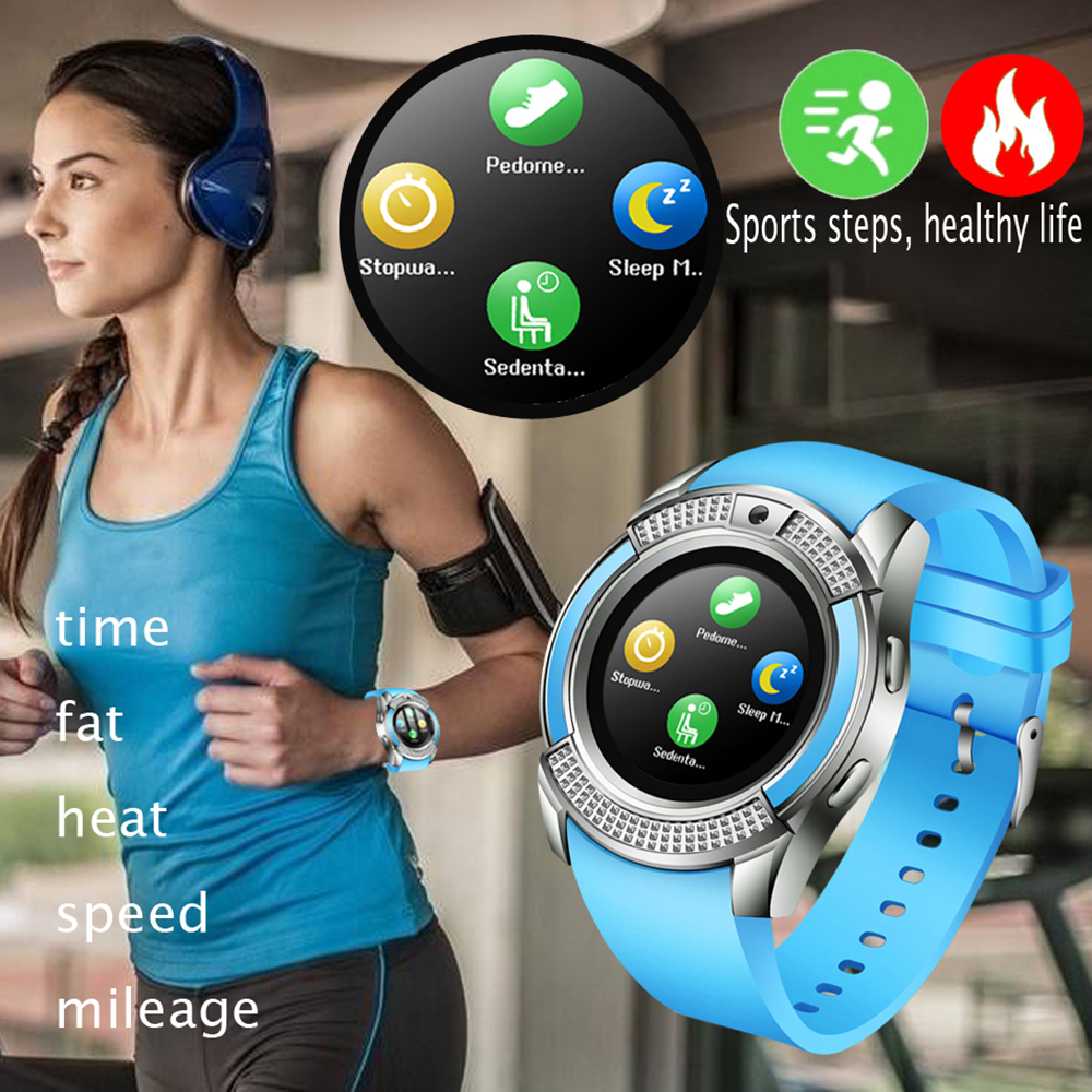 V8 SmartWatch Bluetooth Smartwatch Touch Screen Wrist Watch with Camera/SIM Card Slot, Waterproof Smart Watch DZ09 X6 VS M2 A1 6