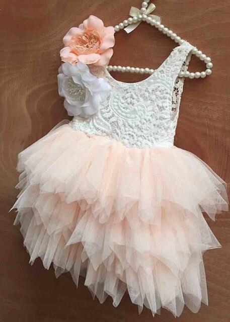 e5cef67dbd80e9 2016 nieuwe baby kids kant taart tutu feestjurk kinderen Prinses jurken  bloem meisje jurk patronen