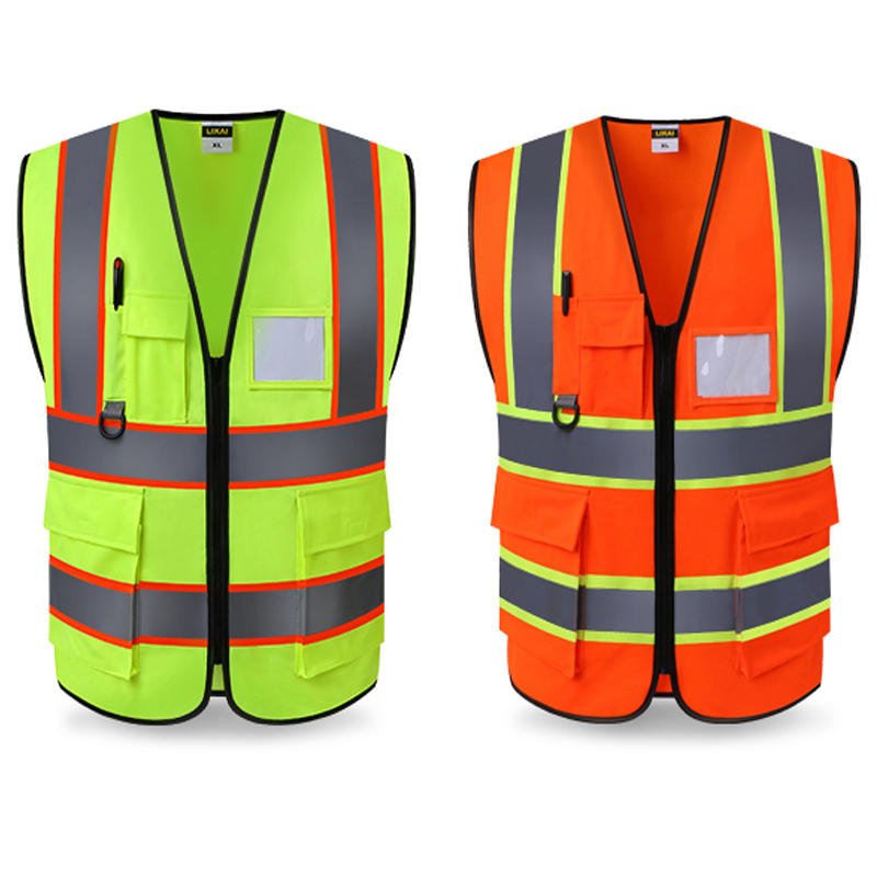 Workplace Safety Supplies Professional Sale Spardwear Safety Mesh Vest Waistcoat Printing Logo Reflective Vest Fluorescent Orange Navy Blue Vest Free Shipping Safety Clothing