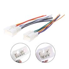 цена на 2pcs Car Radio Wiring Harness Adapter Plug Cable Power Connector For Toyota