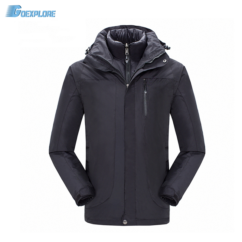 Men Outdoor double layer Thermal 90 white duck down Jacket Sport Hiking ski Coat Outerwear Clothes