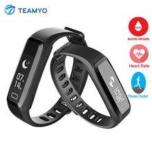 Teamyo g15 спорт smartband пульс кислорода в крови монитор cardiaco умный браслет шагомер фитнес-браслет удаленной камеры