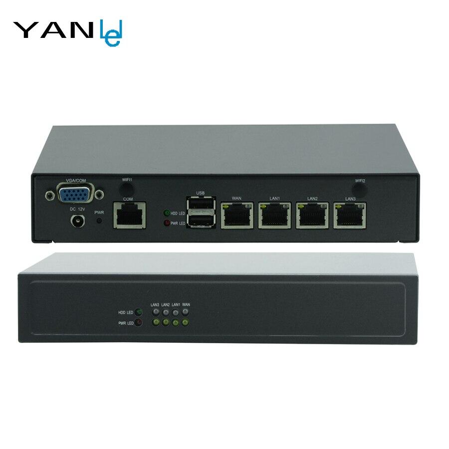 Mini PC Celeron J1900 Quad core Réseau sécurité Bureau WAN Pare-Feu Routeur D'entreprise 4 GbE LAN Pour pfsense