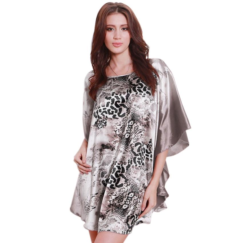 ᑎ‰Hot Sale Women ᗗ Silk Silk Leopard Nightgowns Sexy ...