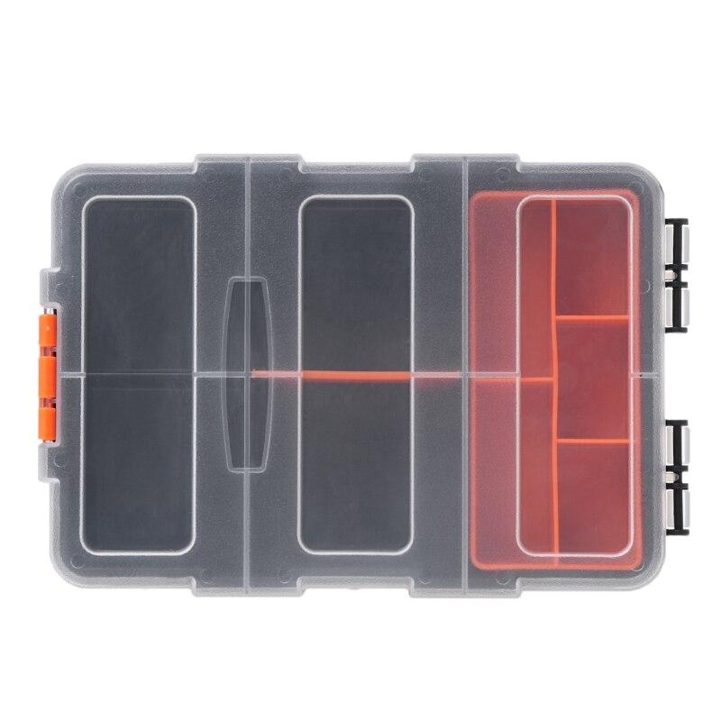 Caixa de ferramentas de armazenamento multifuncional transparente organizador plástico 649e