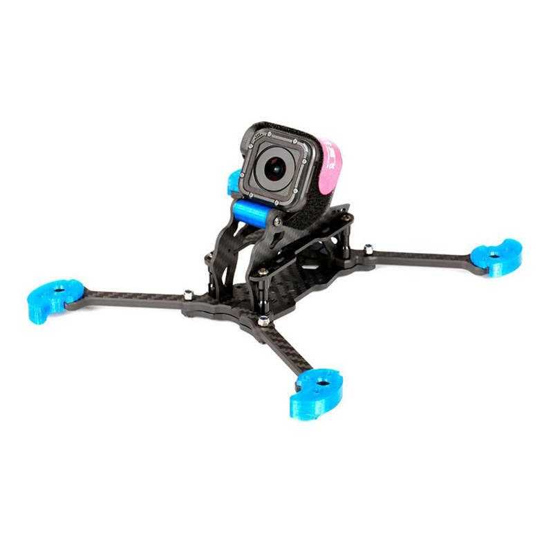 IFlight TAU-5 212mm Wheelbase 5mm Arm 3K Carbon Fiber FPV Racing Frame Kit Blue for RC Models Drone FPV Racing Spare Parts 2017newest transtec 215mm 5mm 3k full carbon fiber frame kit for lightning race blue sliver for rc racing racer drone toy diy