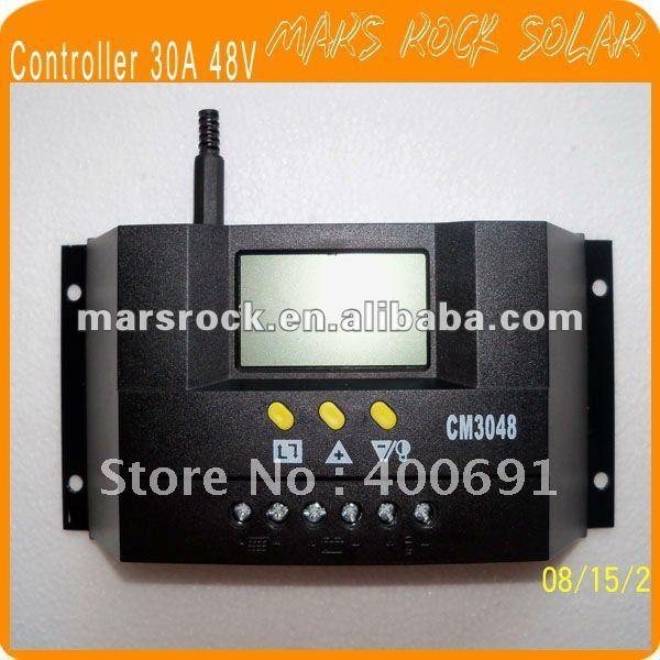 30A 48 В Интеллектуальные солнечные зарядки и разрядки контроллер с ЖК-дисплей Дисплей