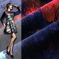 FFLACELL 1 Meter European And American Fashion Catwalks Maple Leaf Jacquard Fabrics Apparel Fabrics Windbreaker Jacket
