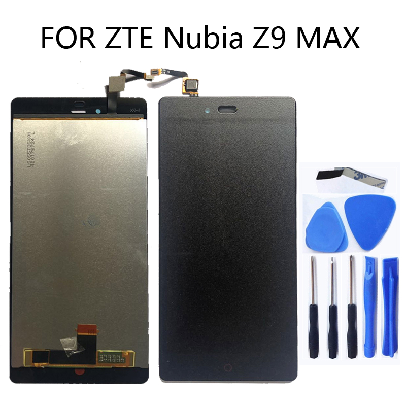 """5.5""""FOR ZTE Nubia Z9 Max nx510j nx512j LCD Display Touch Screen Digitizer Glass LCD Display Assembly + Tools Free Shipping-in Mobile Phone LCD Screens from Cellphones & Telecommunications"""