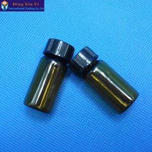 Image 3 - 5 ml 50 teile/los braun glas fläschchen mit schraube kappe Klare Flüssigkeit Probenahme Probe Glas Flaschen Vials Kostenloser versand