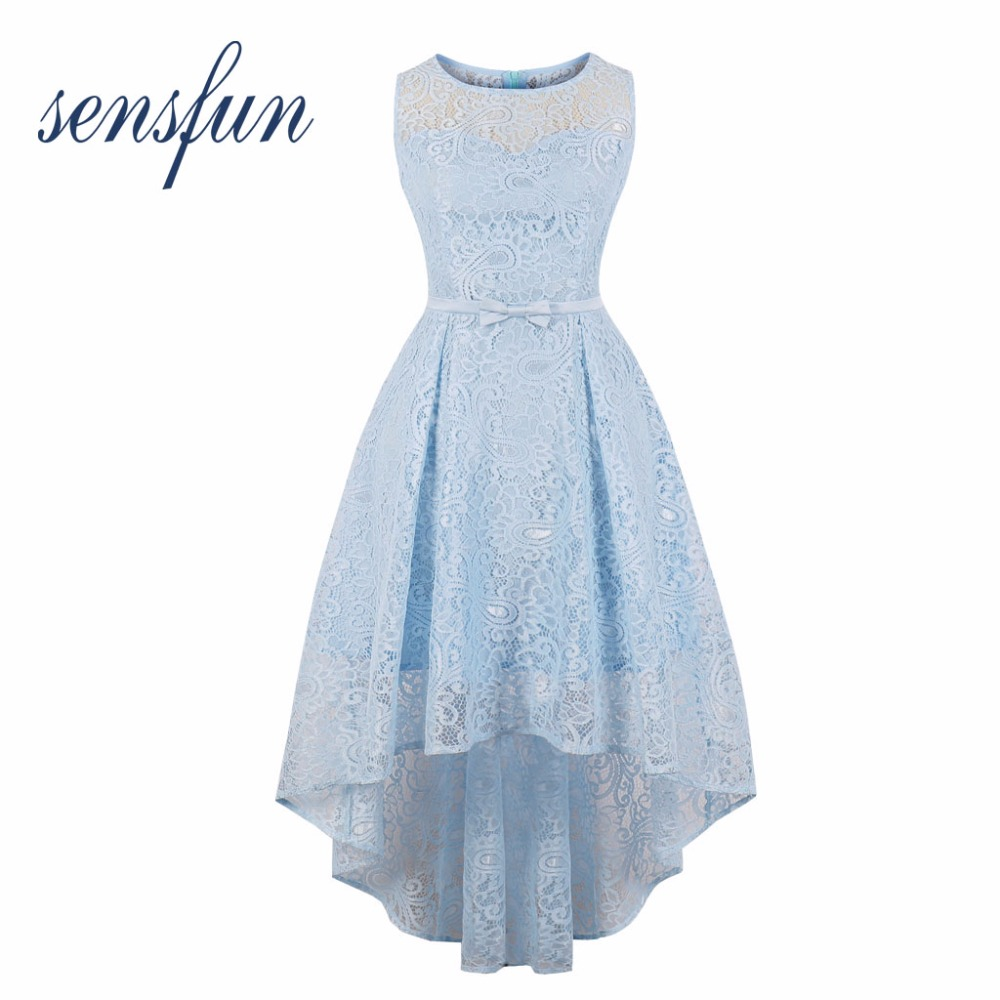 Sensfun Summer Dress Asymmetrical Lace Women Cotton Hepburn Robe Vintage Dress Vestidos Retra Party Dresses Sundress Plus Size