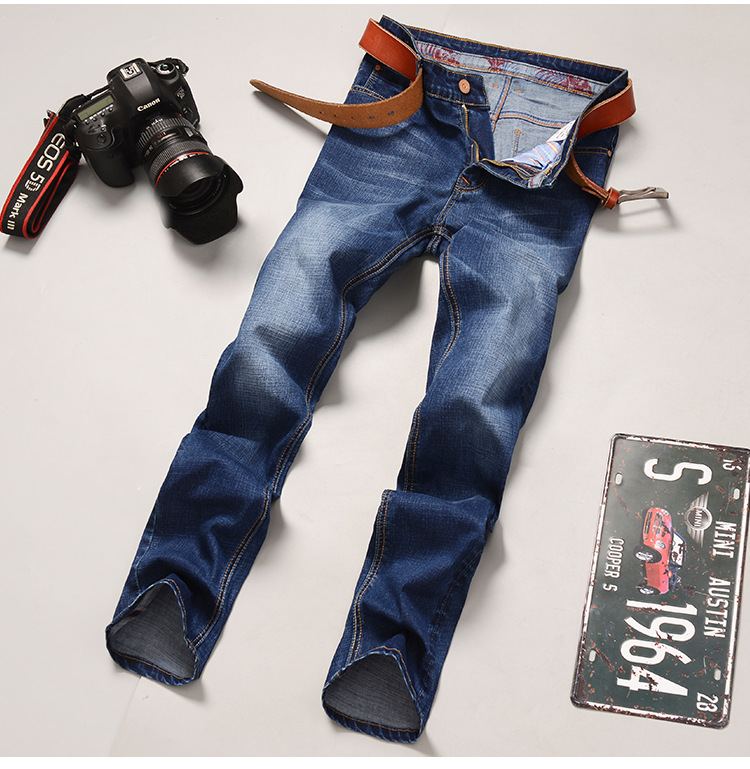 Odinokov Brand 2017 New Spring Autumn Jeans Men Causal Fashion Denim Pants Trousers Cotton