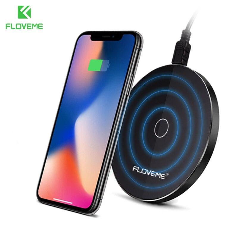 FLOVEME 10 w Qi Caricatore Senza Fili per iPhone X XS MAX XR Veloce Wireless Pad di Ricarica per Samsung Note 9 s9 S8 USB Caricabatterie Wireless