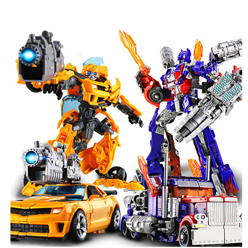 цена [hot] Action figure Robot Optimus Prime Cartoon toy Plastic Cars Action Figure Toys for Children Educational Toy for gifts