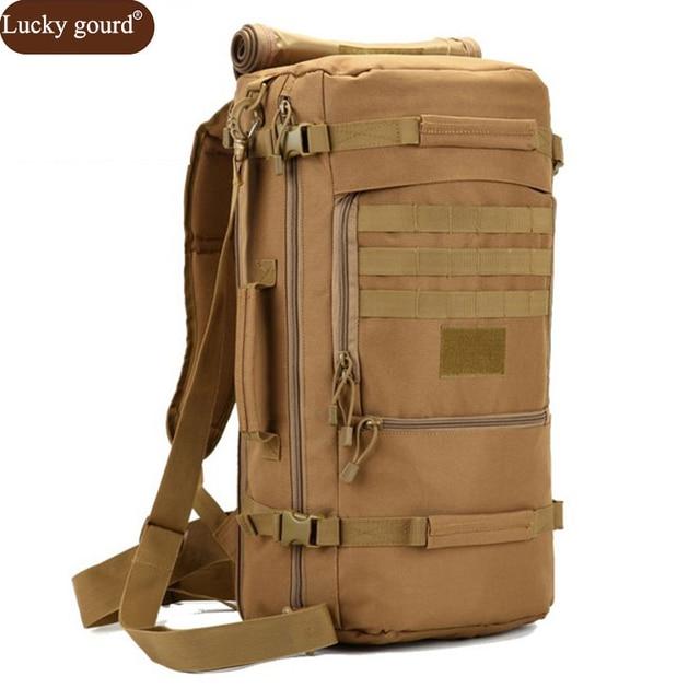 Hot Men's Military Backpack Waterproof Nylon School Bag Camouflage Backpacks Multi-function Men Travel Bags 2017 D088