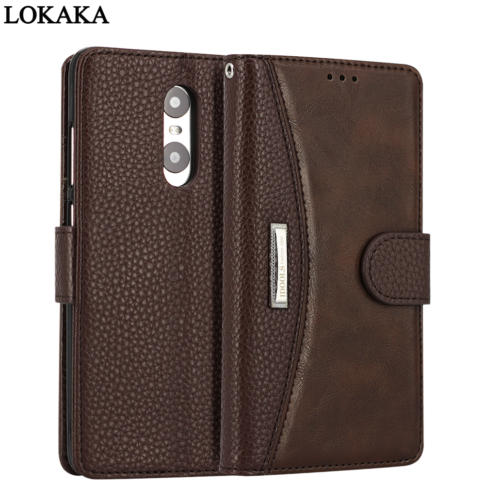 LOKAKA Phone Case For Xiaomi Redmi Note 4 4X 3 3S Note 5A Pro PU Leather flip Cover Stand Bags Cases for Xiaomi mi A1 6 mi 5 5X