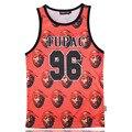 Caliente Tupac Shakur No. 96 3D Print Tank Tops Mens Camiseta Transpirable adolescente Algodón Tee Suelta Prenda Unisex