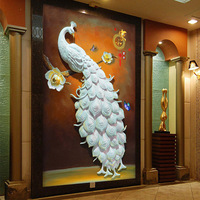 5D New Peacock Diamond Painting Full Of Round Diamond Mosaic Diamond Cross Stitch Embroidery Kits Living