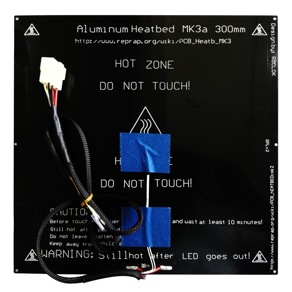 TRONXY 3D Printer Heat bed 220*220mm/330*330mm Print Build standard aluminum plate hot bed 1pc hot bed heat plate makerbot 3d printer kit reprap 3d printer 12v hot bed heat plate heat bed pcb 150 230