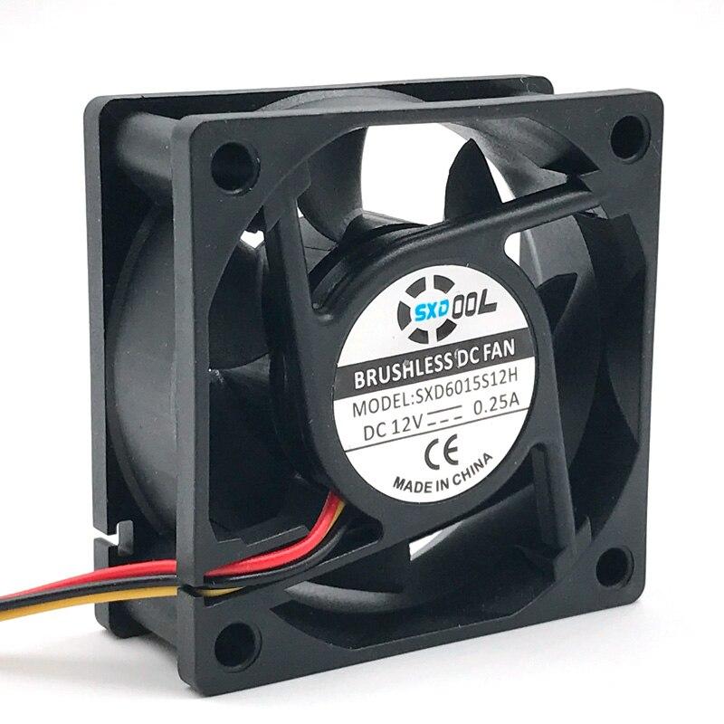 sxdool 6025 бесшумный вентилятор 12 в